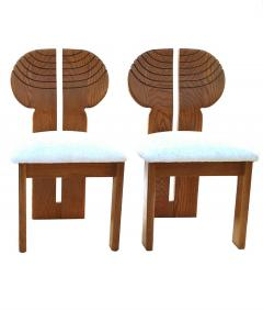 Afra Tobia Scarpa 6 Africa Studio Dining Chairs In The Manner of Afra Tobia Scarpa - 1878313