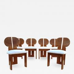 Afra Tobia Scarpa 6 Africa Studio Dining Chairs In The Manner of Afra Tobia Scarpa - 1879820