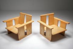 Afra Tobia Scarpa Afra Tobia Scarpa crate chairs Maxalto 1970s - 1450425