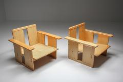 Afra Tobia Scarpa Afra Tobia Scarpa crate chairs Maxalto 1970s - 1450429