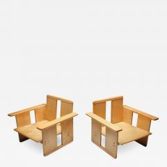 Afra Tobia Scarpa Afra Tobia Scarpa crate chairs Maxalto 1970s - 1451786