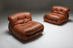 Afra Tobia Scarpa Cassina Soriana Lounge Chairs by Afra and Tobia Scarpa 1970s - 1950486