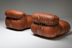 Afra Tobia Scarpa Cassina Soriana Lounge Chairs by Afra and Tobia Scarpa 1970s - 1950487