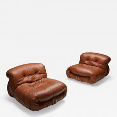 Afra Tobia Scarpa Cassina Soriana Lounge Chairs by Afra and Tobia Scarpa 1970s - 1953268
