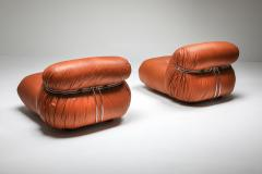 Afra Tobia Scarpa Cassina Soriana Pair of Lounge Chairs by Afra and Tobia Scarpa 1970s - 1367375