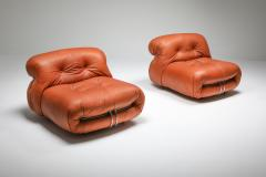 Afra Tobia Scarpa Cassina Soriana Pair of Lounge Chairs by Afra and Tobia Scarpa 1970s - 1367381
