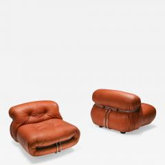 Afra Tobia Scarpa Cassina Soriana Pair of Lounge Chairs by Afra and Tobia Scarpa 1970s - 1368061