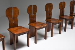 Afra Tobia Scarpa Italian Afra Tobia Scarpa Africa Dining Chairs for Maxalto 1975 - 1982527