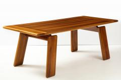 Afra Tobia Scarpa Italian Walnut Floating Dining Table by Afra and Tobia Scarpa for Mobil Girgi - 2093381