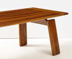 Afra Tobia Scarpa Italian Walnut Floating Dining Table by Afra and Tobia Scarpa for Mobil Girgi - 2093382