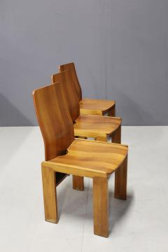 Afra Tobia Scarpa Pair of six Afra Tobia Scarpa MidCentury Chair in wood 1980s - 1210119
