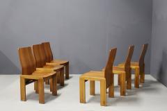 Afra Tobia Scarpa Pair of six Afra Tobia Scarpa MidCentury Chair in wood 1980s - 1210121