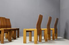 Afra Tobia Scarpa Pair of six Afra Tobia Scarpa MidCentury Chair in wood 1980s - 1210122