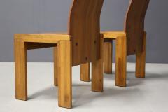 Afra Tobia Scarpa Pair of six Afra Tobia Scarpa MidCentury Chair in wood 1980s - 1210126