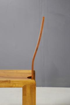 Afra Tobia Scarpa Pair of six Afra Tobia Scarpa MidCentury Chair in wood 1980s - 1210128
