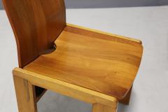 Afra Tobia Scarpa Pair of six Afra Tobia Scarpa MidCentury Chair in wood 1980s - 1210129