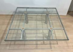 Afra Tobia Scarpa Sofa Table Andre by Afra Tobia Scarpa Chromed and Glass Italy circa 1970 - 1935523