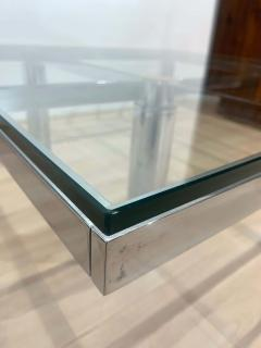 Afra Tobia Scarpa Sofa Table Andre by Afra Tobia Scarpa Chromed and Glass Italy circa 1970 - 1935524
