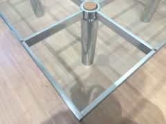 Afra Tobia Scarpa Sofa Table Andre by Afra Tobia Scarpa Chromed and Glass Italy circa 1970 - 1935529