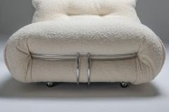 Afra Tobia Scarpa Soriana Lounge lounge chair Ottoman in Boucl by Afra Tobia Scarpa 1969 - 1337788