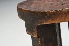 African Solid Wood Stool Africa ca 1950s - 2096455
