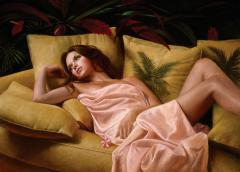 After Glow Contemporary Figurative Giclee Print by Dario Campanile - 2012333