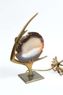 Agate and Brass Fish Lamp - 678323