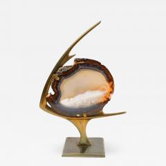Agate and Brass Fish Lamp - 679592