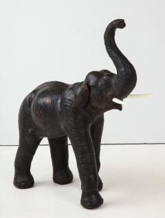 Aged Leather Elephant Statue - 1266758