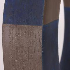 Agn s Nivot Contemporary Ceramic Sculpture Anneau Arc Bleu - 1669340