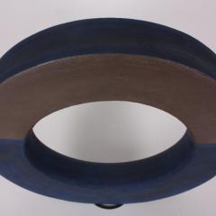 Agn s Nivot Contemporary Ceramic Sculpture Anneau Arc Bleu - 1669345