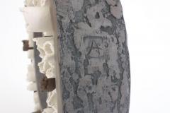 Agn s Nivot Contemporary Ceramic Sculpture Anneau Ouvert Composition - 1669342