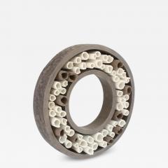 Agn s Nivot Contemporary Ceramic Sculpture Anneau Ouvert Composition - 1670958