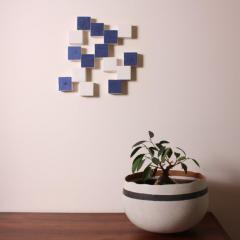 Agn s Nivot Contemporary Ceramic Wall Art Mural Bleu - 1656860