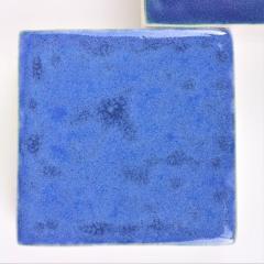 Agn s Nivot Contemporary Ceramic Wall Art Mural Bleu - 1656862