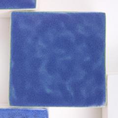 Agn s Nivot Contemporary Ceramic Wall Art Mural Bleu - 1656863