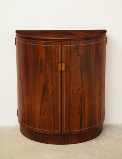 Agner Christoffersen Rosewood Demi Lune Cabinet by Agner Christoffersen for N C Christoffersen - 1095516