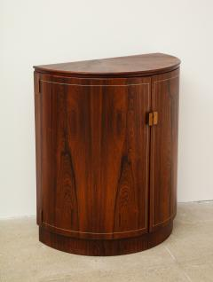 Agner Christoffersen Rosewood Demi Lune Cabinet by Agner Christoffersen for N C Christoffersen - 1095519