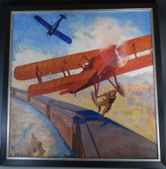 Airplane Action Comic Book Cover Painting - 1711745