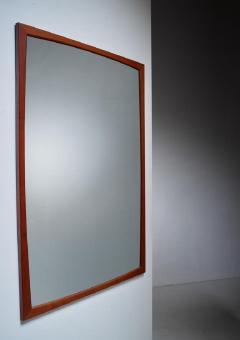 Aksel Kjersgaard Large Aksel Kjersgaard rectangular teak wall mirror Denmark 1960s - 755604
