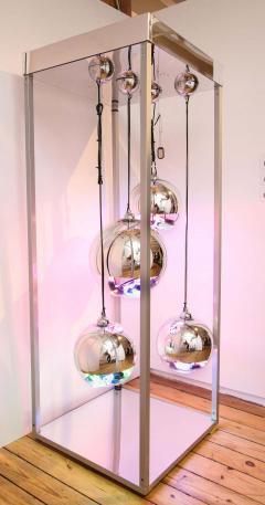 Al Jord o Contemporary Neon Balls Stand Lamp by Brazilian designer Al Jord o - 1271603