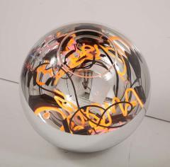Al Jord o Round Floor Lamp with Neon Lights by Brazilian Designer - 1271553