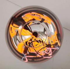 Al Jord o Round Floor Lamp with Neon Lights by Brazilian Designer - 1271555