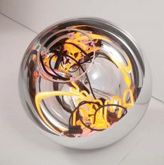 Al Jord o Round Floor Lamp with Neon Lights by Brazilian Designer - 1271556