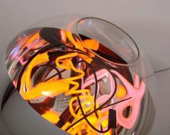 Al Jord o Round Floor Lamp with Neon Lights by Brazilian Designer - 1271560