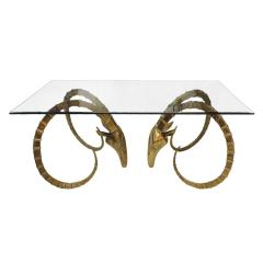 Alain Chervet Alain Chervet Hollywood Regency Carved Solid Bronze French Sculptural Table - 512681
