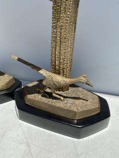 Alain Chervet Pair of Brass Giant Saguaro Cactus Lamps - 1452741