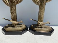 Alain Chervet Pair of Brass Giant Saguaro Cactus Lamps - 1452744