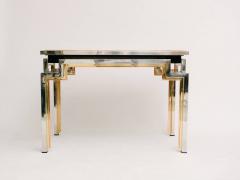 Alain Delon Tri Metal Backgammon Table by Alain Delon for Maison Jansen - 583274
