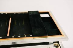 Alain Delon Tri Metal Backgammon Table by Alain Delon for Maison Jansen - 583276